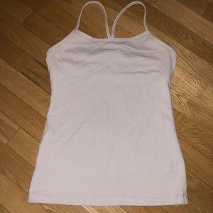 Women's Lululemon athletic tank top shelf bra
